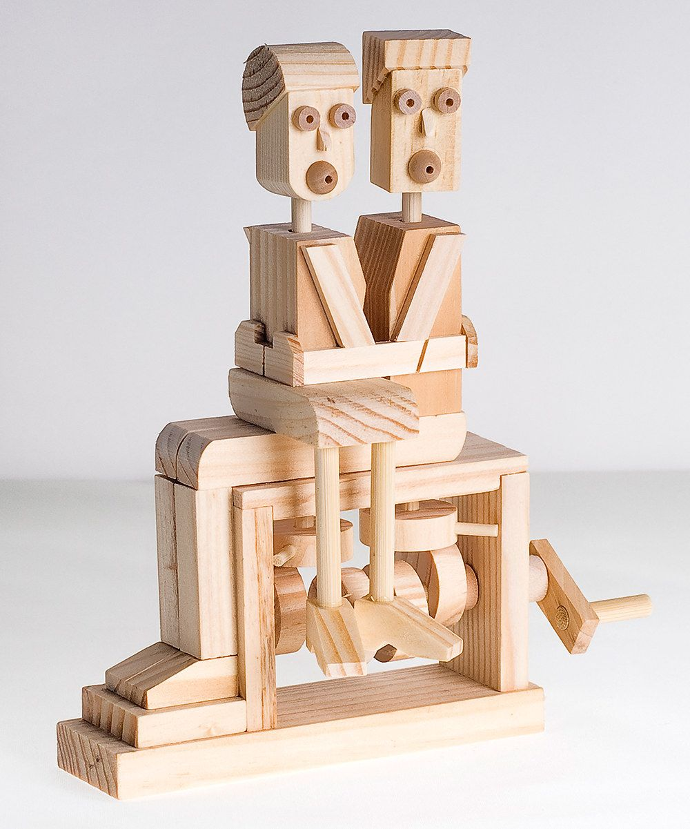 Kissing couple mechanical craft kit by timberkits wooden