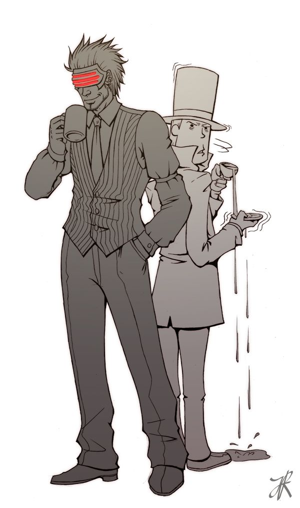 Ace Attorney Godot Fanart Google Search Professor Layton