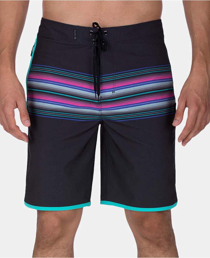 87e39e97f6 Men's Phantom Baja Malibu Stretch Quick-Dry Stripe 20 Board Shorts ...