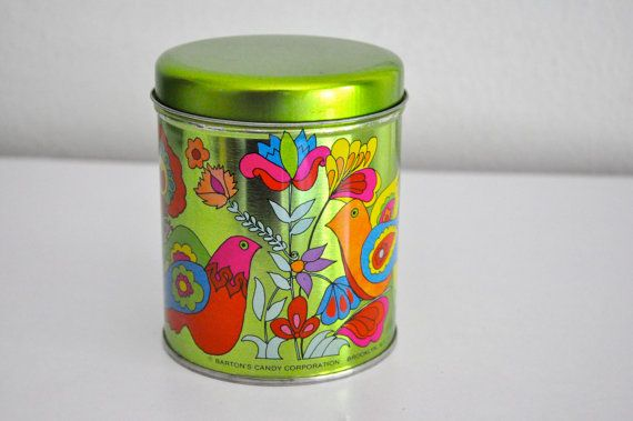 Vintage 60s Bartons Candy Tin Canister Brooklyn Door Cardinalcache