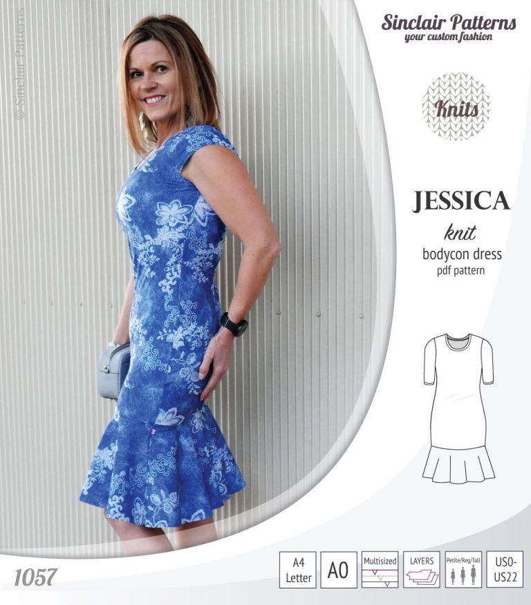 Jessica Bodycon Knit Dress (PDF) (With Images)
