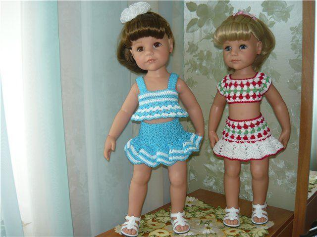 Небольшое пополнение нашего летнего гардеробчика. Одежда для кукол Gotz своими руками / Одежда и обувь для кукол - своими руками и не только / Бэйбики. Куклы фото. Одежда для кукол