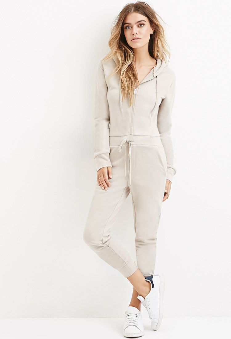 2b85a211604 French Terry Hoodie Jumpsuit