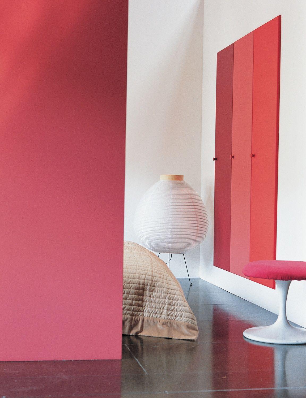 Rood en oranje laten zich prima combineren in de slaapkamer ...