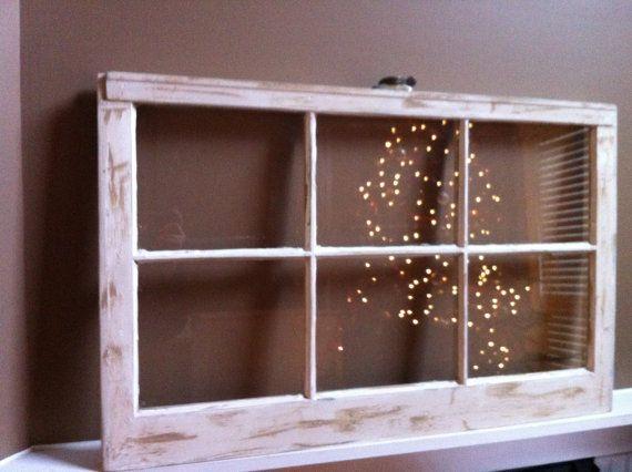 x old vintage distressed creamwhite wooden window frame - Distressed Window Frame