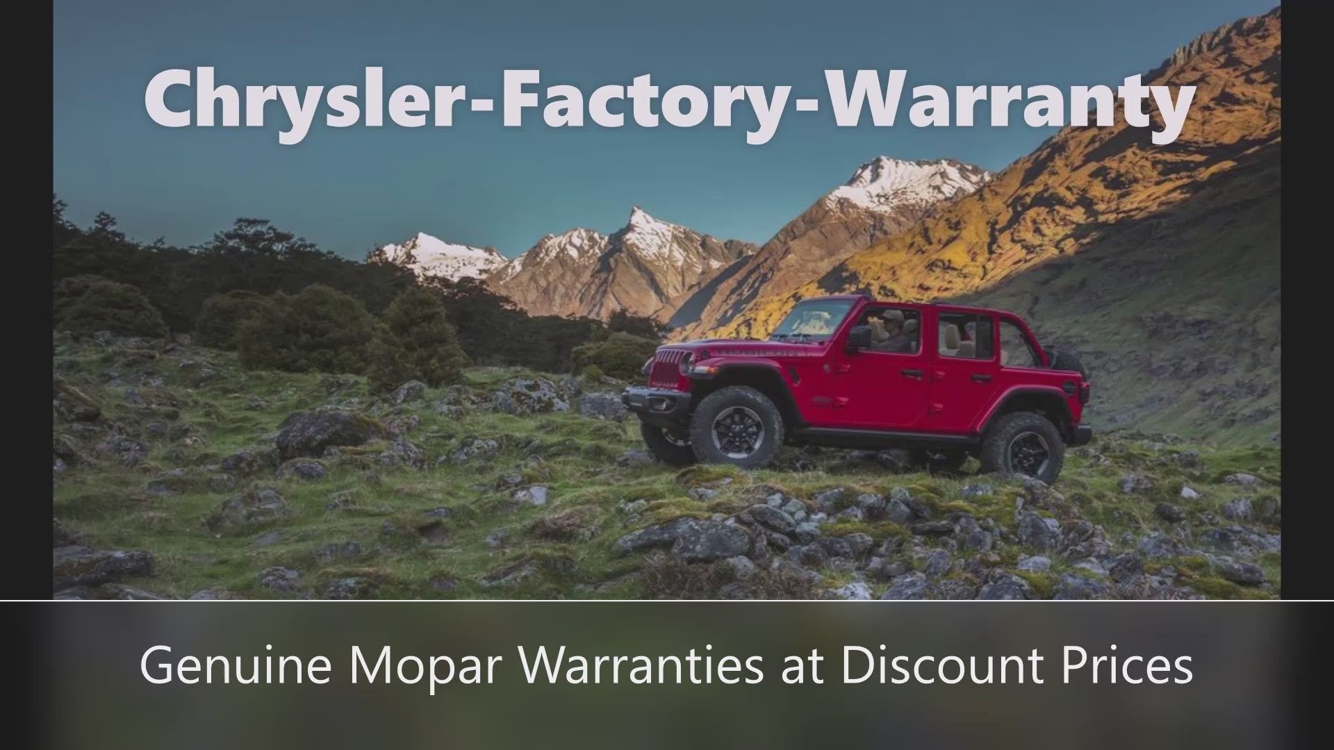 Jeep Extended Warranty In 2020 Chrysler Mopar Chrysler Cars