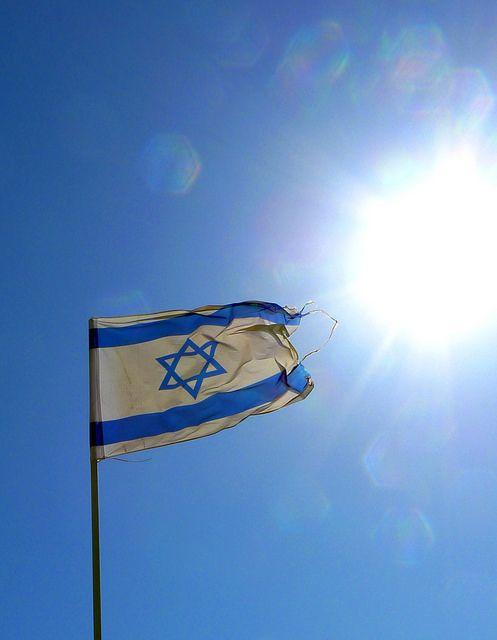 Israel Flag In The Sun Israel Flag Israel Israeli Flag