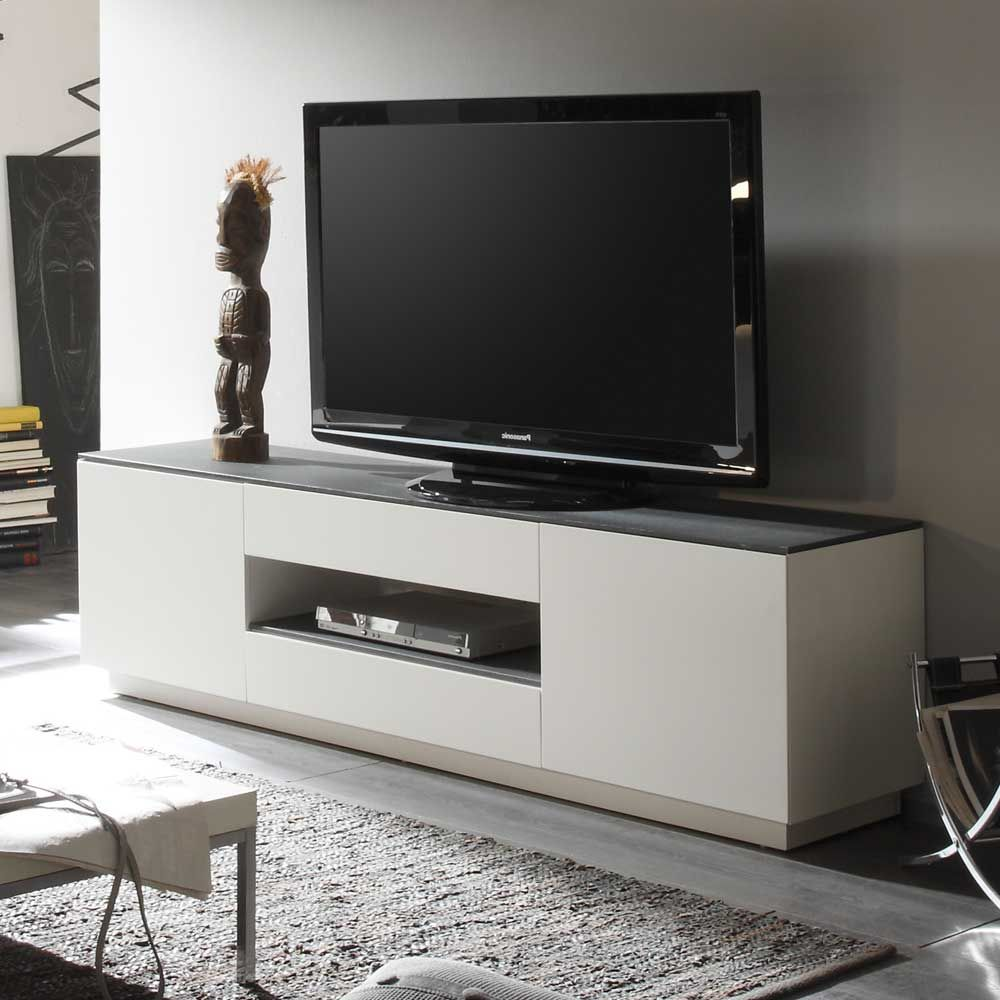 tv lowboard grau elegant marcell breites lowboard grau with tv lowboard grau lowboard celio. Black Bedroom Furniture Sets. Home Design Ideas
