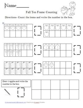 Common Worksheets » Ten Frame Worksheets - Preschool and ...