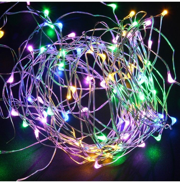 LED Lights Copper Wire String Fairy Light Birthday Party Decoration