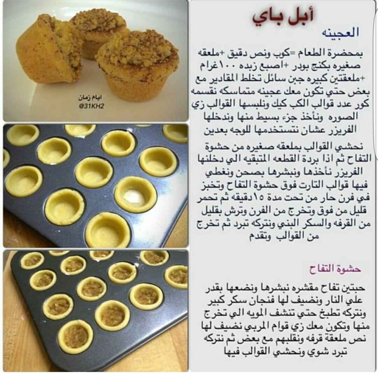 عجينة ابل باي تارت التفاح Sweets Recipes Apple Recipes Dessert Bites
