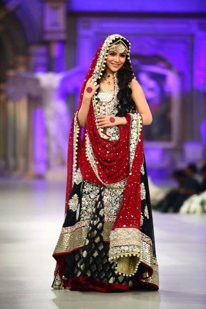 Red N Black Pakistani Bridal Dresses Pakistani Bridal Wear Black Bridal Dresses