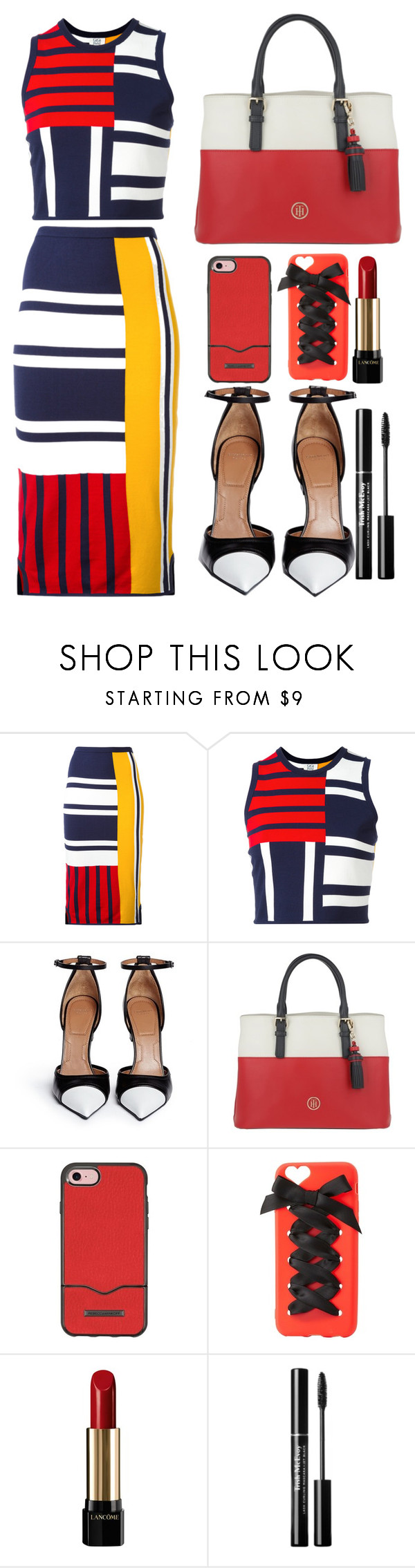 """""""tommy hilfiger dress"""" by faesadanparkaia on Polyvore featuring Tommy Hilfiger, Givenchy, Rebecca Minkoff, Charlotte Russe and Lancôme"""