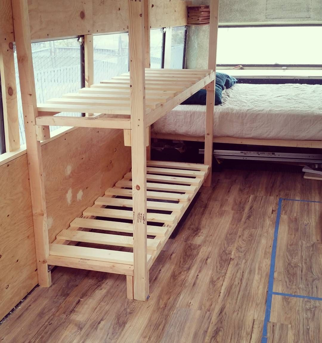 Bunk Bed Frame Out Before The Pretty Framing Diy Bunk Bed Bunk