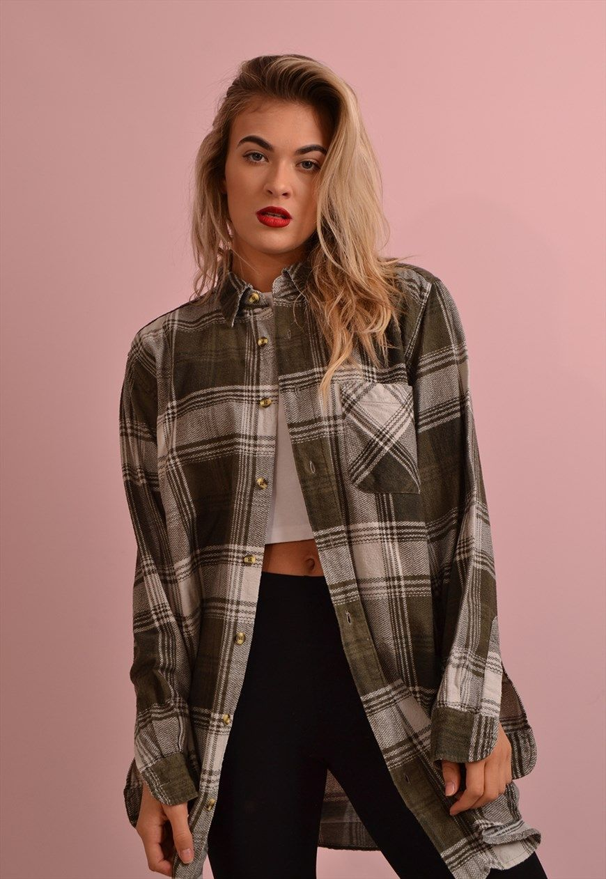Flannel shirt for girls  Check Flannel Shirt GRS  Port Girls  ASOS Marketplace  Что