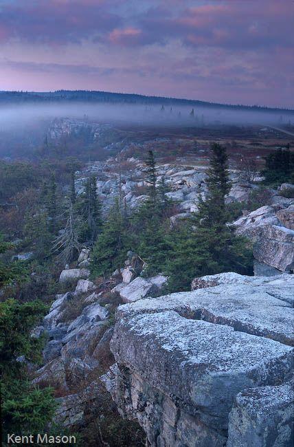 Bear Rocks in Grant County, West Virginia