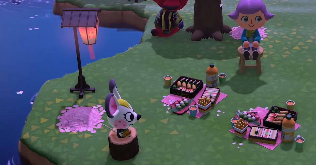 Animal Crossing New Horizons Switch Cherry Blossom Recipe List Polygon In 2021 Cherry Blossom Cherry Blossom Petals Animal Crossing