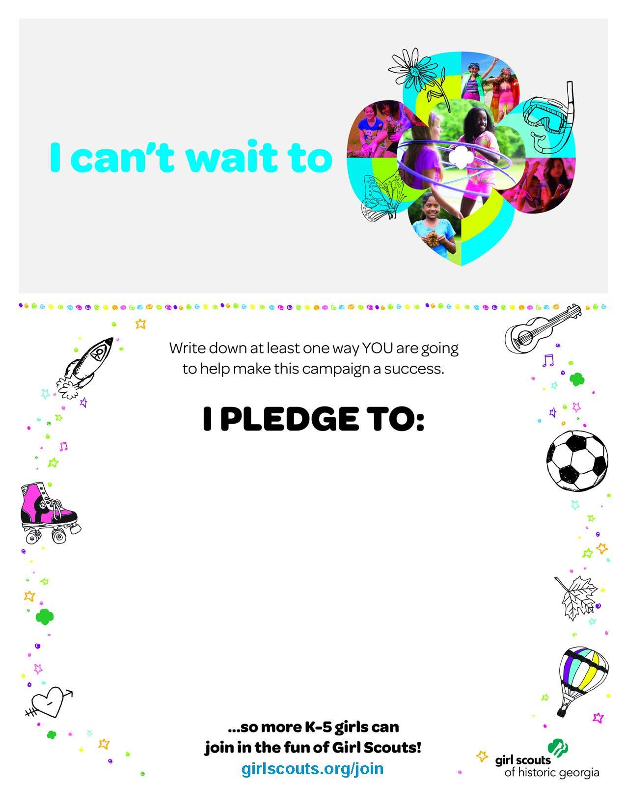 Print Out This Pledge Form As A Reminder Of How You Can Inspire