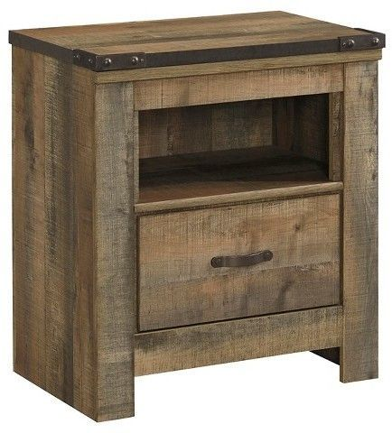 Signature Design By Ashley Trinell One Drawer Night Stand Brown