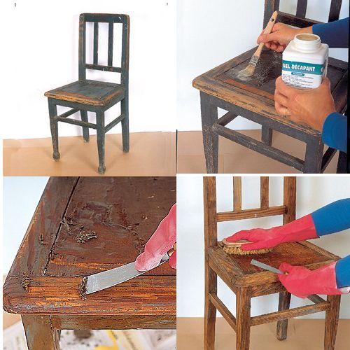 Comment r nover de vieilles chaises proiecte de ncercat pinterest chaise vieilles - Comment renover des chaises en bois ...