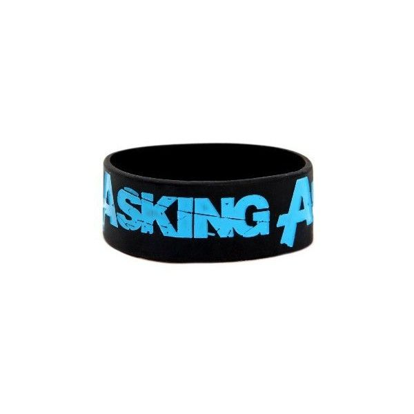 Asking Alexandria Logo Rubber Bracelet:Amazon:Jewelry ❤ liked on Polyvore featuring jewelry, bracelets, accessories, rubber bracelets, band merch, bracelet bangle, rubber jewelry, rubber bangles, bracelet jewelry and rubber bracelet