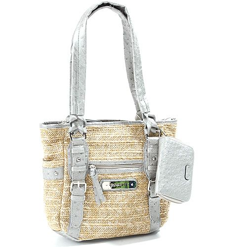 Rosetti Belting Pot Tote - Platinum tote bag at boscovs