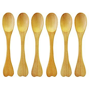 DCIMade With Love Heart Shaped Bamboo Spoon