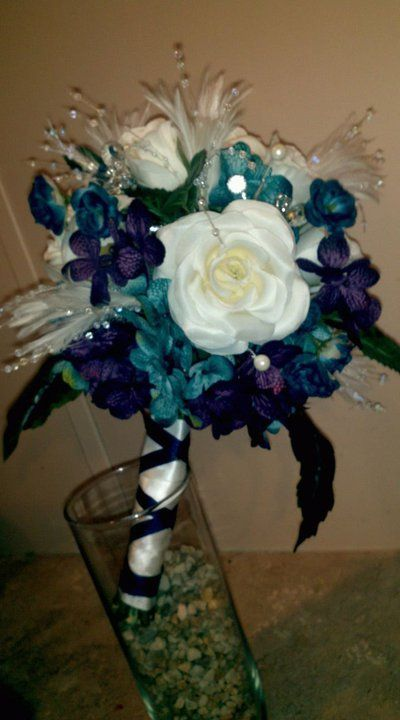 My DIY Bridal Bouquet...i love it : wedding blue bold ...