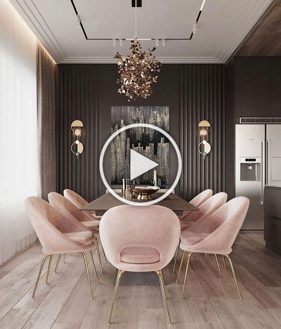 Gorgeous Luxurious Dining Room Design For Luxury Home Ideas  #décomaison Feel inspired with Covet Group | www.covetgroup.com | Visit us for: #interior #decor #moderndecor #interiordecor #modernhomes #moderninteriordesign #contemporaryinteriors #besthomestyle #livingroom #interiordesign #luxury #interiors