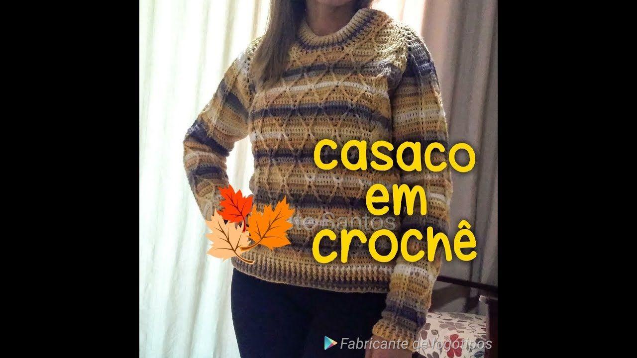 Lindo Casaco Em Croche Passo A Passo Jaqueta De Crochet