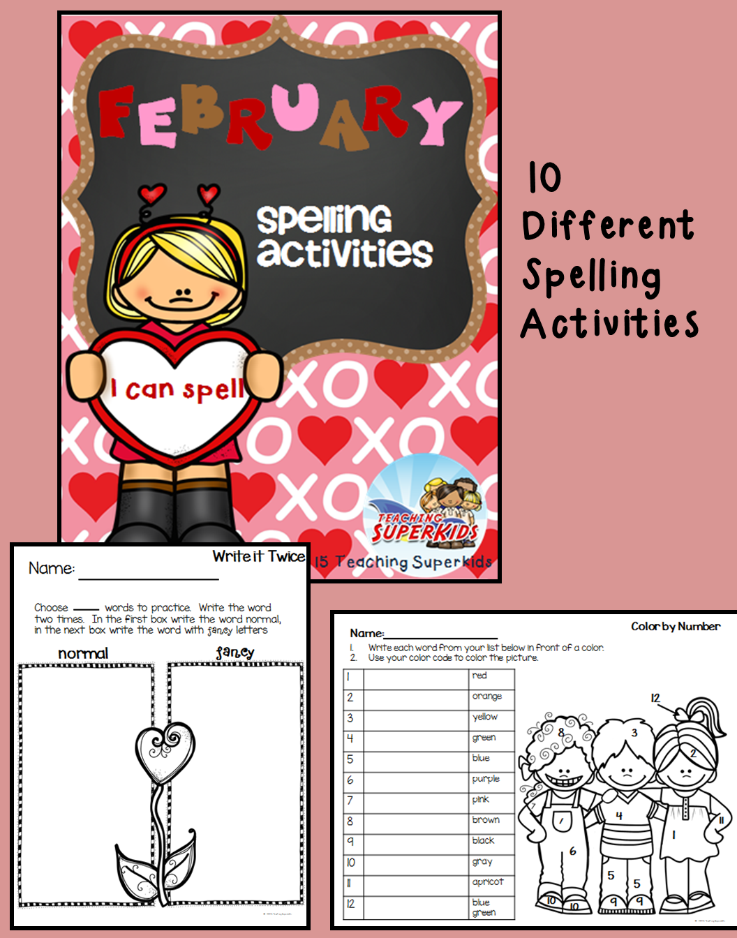 February Spelling Activities
