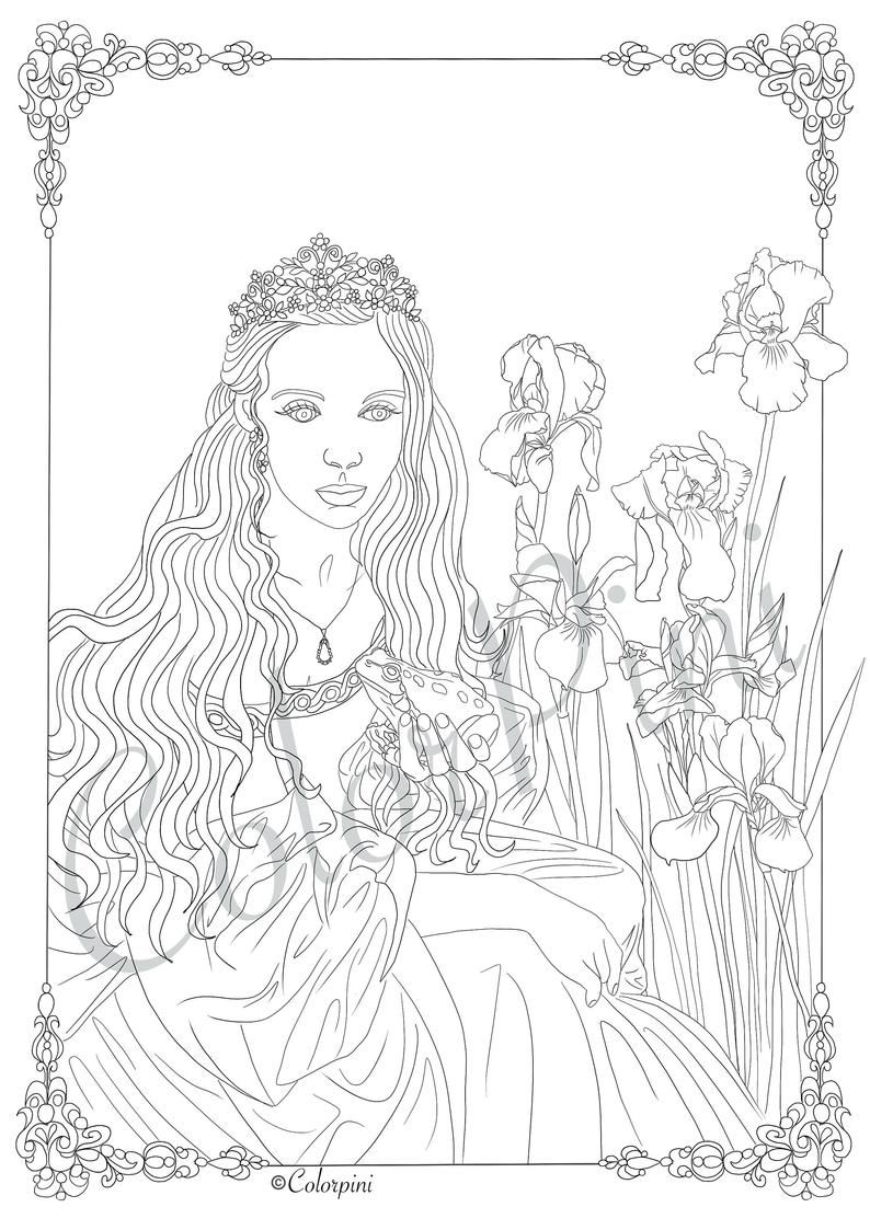 Dream Princess Coloring Pages Download Printable File Pdf In 2021 Malvorlage Prinzessin Marker Etsy