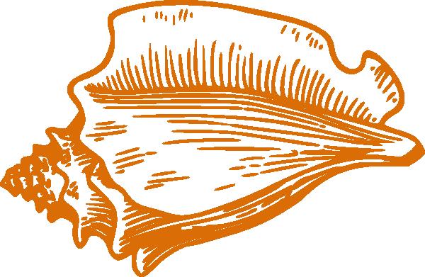 orange conch shell clip art vector clip art online royalty free rh pinterest com shells images clip art shell clip art images