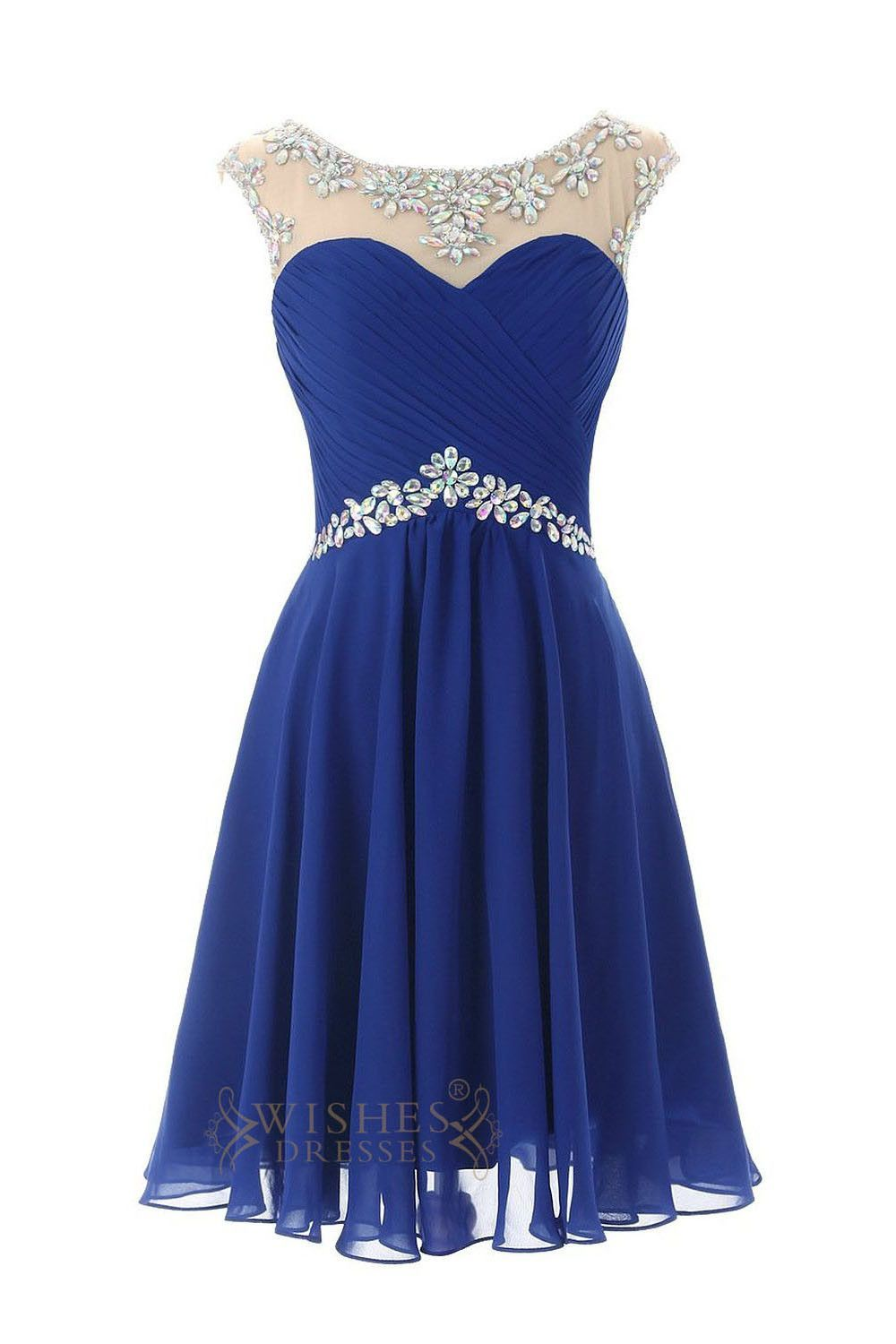 Sexy Royal blue Chiffon Short Cocktail Dress / Prom Dress ...