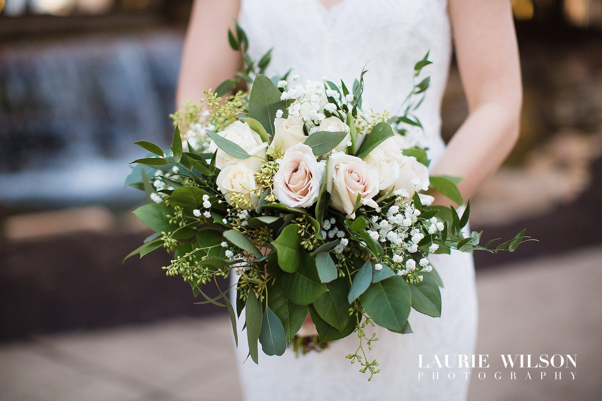 Beautiful Romantic Wedding Bouquet Greenery Bouquet Roses