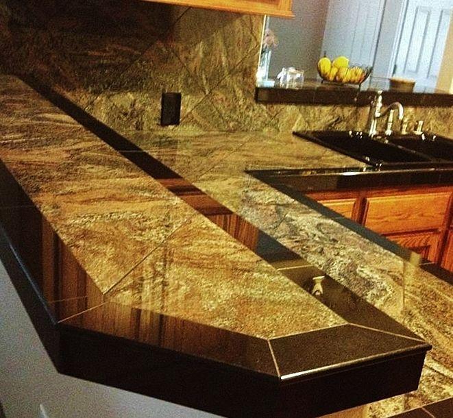 Beau Smooth Granite Tile Countertop