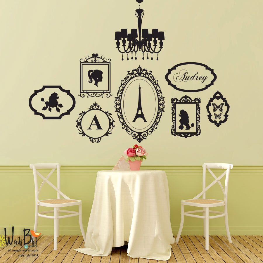 Oh la la girly girl french theme decal set wall decal oh la la girly girl french theme decal set wall decal chandelier frames mozeypictures Gallery