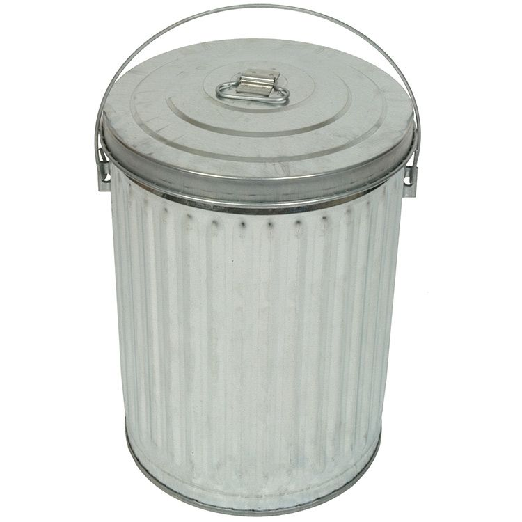 10 Gallon Galvanized Steel Trash Can W Lid Metal Trash Cans Trash And Recycling Bin Recycle Trash