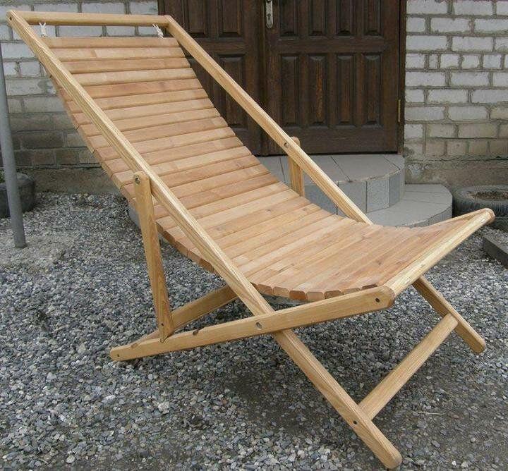 шезлонг деревянный складной чертеж