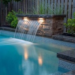 How To Install Sheer Fountain Wall Next To Pool Google