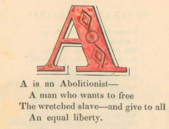 Mississippi Department of Archives and History digitized copy of The Anti-Slavery Alphabet by Hannah and Mary Townsend