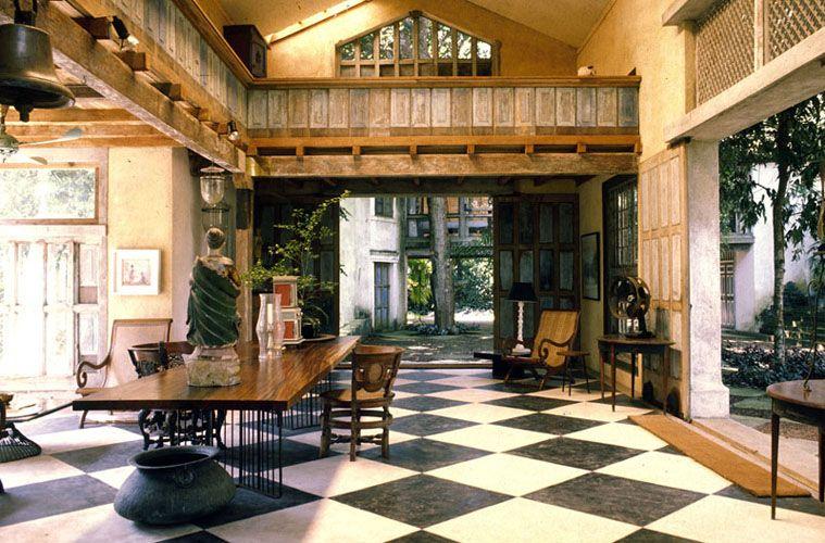 Interior of Geoffrey Bawa's Lunuganga estate