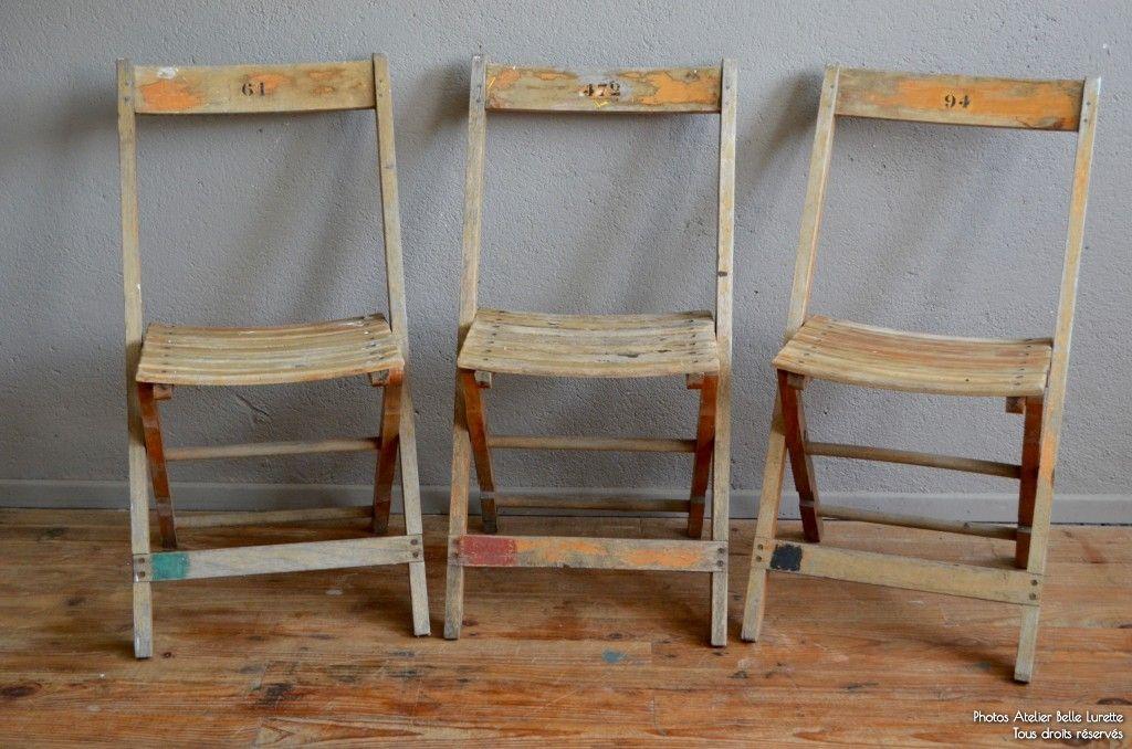 Chaise Pliante Betty L Atelier Belle Lurette Renovation De Meubles Vintage Chaise Pliante Chaise Pliante Bois Chaises Bois