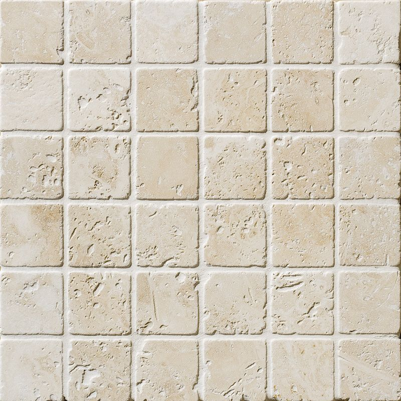 Ivory Tumbled 2x2 Travertine Mosaics 12x12 Travertine Mosaic Tiles Travertine Travertine Tile
