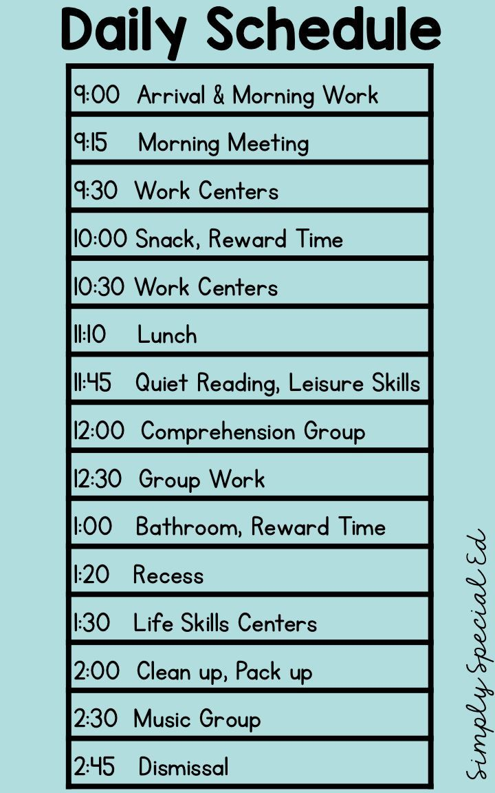 make your own schedule