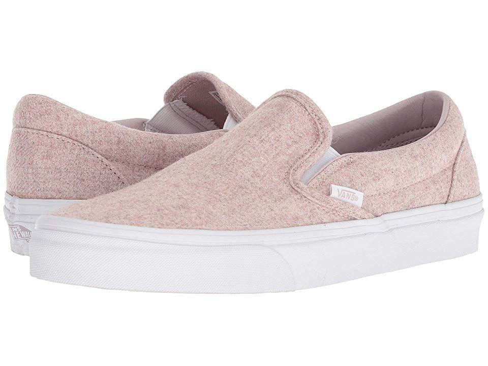Vans Classic Slip-Ontm Skate Shoes (Flannel) Violet Ice True White ... e8918b4df