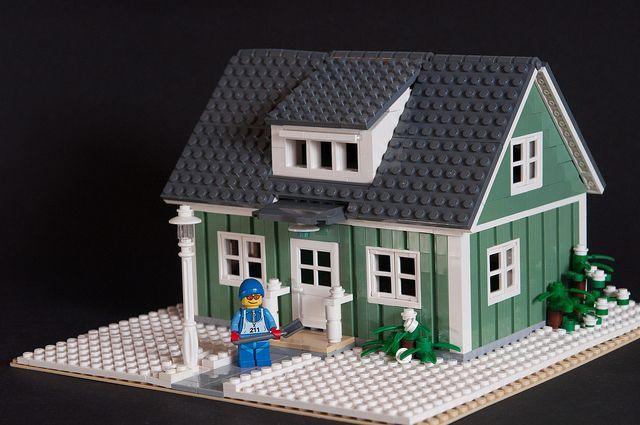 Swedish Sand Green Villa Lego House Lego Worlds Lego Modular