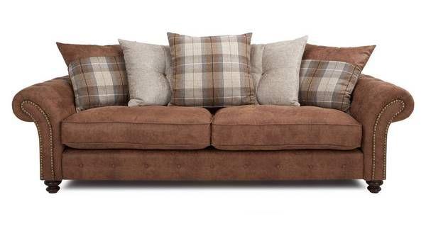 Oakland 4 Seater Pillow Back Sofa