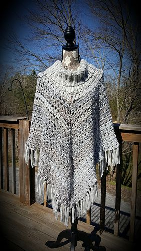 68c95375debb68 You'll love this cozy cowl-neck poncho pattern for sporting events, and to  show which team you support wherever you go! Crocheted in self-striping  Team ...