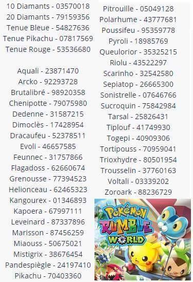 Team Up 10 Codes Pokémon Online Duo De Choc